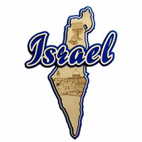 Paper Wizard - Country Maps Collection - Die Cuts - Map of Israel
