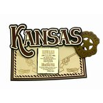 Paper Wizard - Altered States Collection - Die Cuts - Map of Kansas