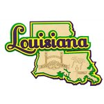 Paper Wizard - Altered States Collection - Die Cuts - Map of Louisiana