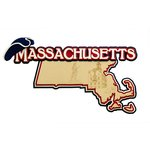 Paper Wizard - Altered States Collection - Die Cuts - Map of Massachusetts