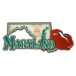 Paper Wizard - Altered States Collection - Die Cuts - Map of Maryland
