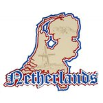Paper Wizard - Country Maps Collection - Die Cuts - Map of The Netherlands
