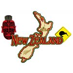 Paper Wizard - Country Maps Collection - Die Cuts - Map of New Zealand