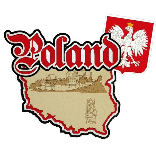 Paper Wizard - Country Maps Collection - Die Cuts - Map of Poland