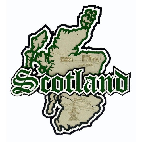 Paper Wizard - Country Maps Collection - Die Cuts - Map of Scotland