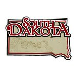 Paper Wizard - Altered States Collection - Die Cuts - Map of South Dakota