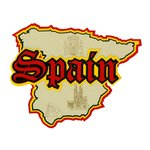 Paper Wizard - Country Maps Collection - Die Cuts - Map of Spain