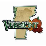 Paper Wizard - Altered States Collection - Die Cuts - Map of Vermont