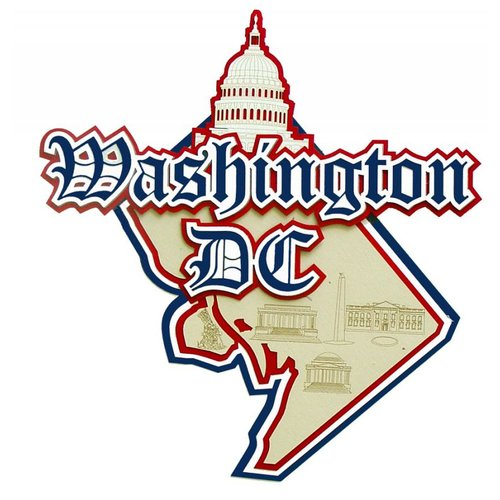 Paper Wizard - Altered States Collection - Die Cuts - Map of Washington DC