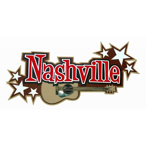 Paper Wizard - Travel Collection - Die Cuts - Nashville Title