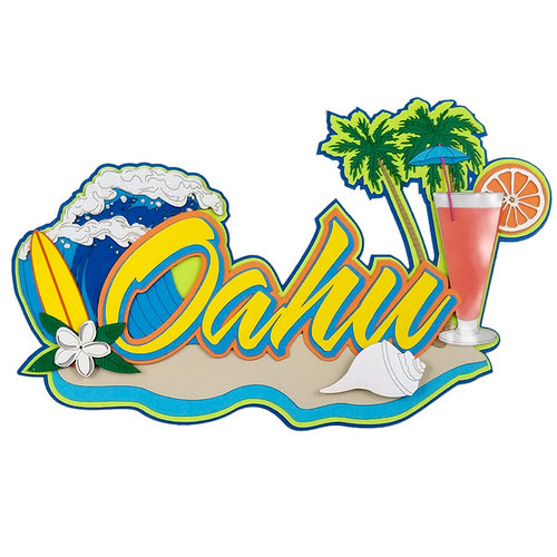 Paper Wizard - Hawaii Collection - Die Cuts - Oahu 3