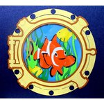 Paper Wizard - Island Paradise Collection - Die Cuts - Porthole Ocean