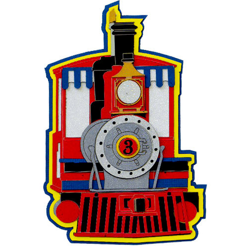 Paper Wizard - Die Cuts - All Aboard - Engine