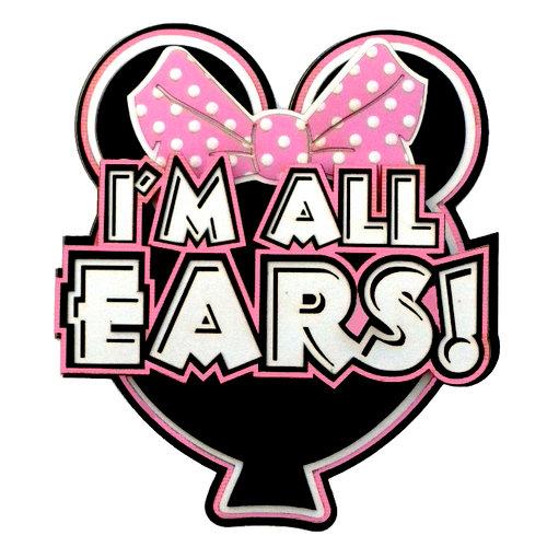 Paper Wizard - Disney - Die Cuts - I'm All Ears - Pink