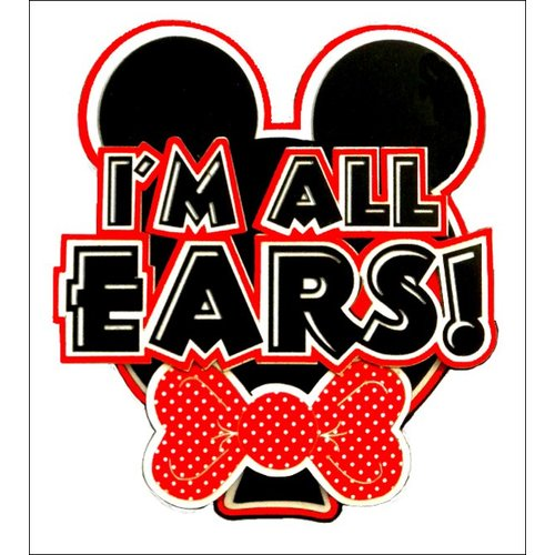 Paper Wizard - Disney - Die Cuts - I'm All Ears - Red