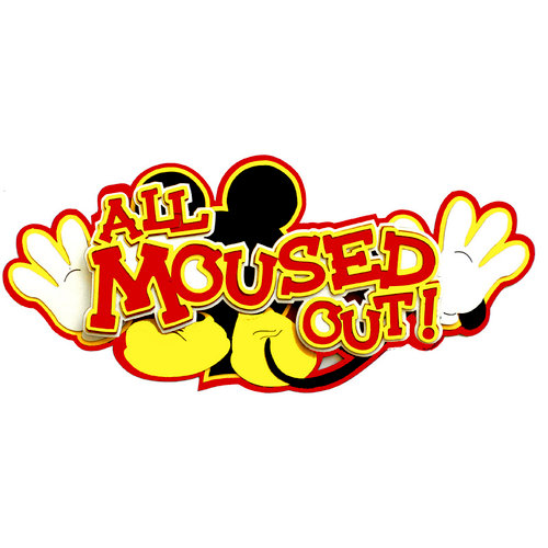 Paper Wizard - Mousin Around Collection - Disney - Die Cuts - All Moused Out