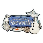 Paper Wizard - Frozen Collection - Die Cuts - Do You Want to Build a Snowman Titles