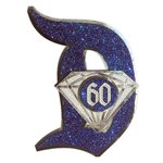 Paper Wizard - Die Cuts - 60th Anniversary Letter