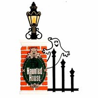 Paper Wizard - Mousin Around Collection - Disney - Die Cuts - Haunted House
