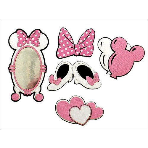 Paper Wizard - Disney - Die Cuts - Mouse Minis - Pink