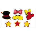 Paper Wizard - Disney - Die Cuts - Mouse Minis - Red