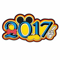 Paper Wizard - Theme Park Collection - Die Cuts - Mousy 2017 - Blue