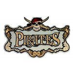 Paper Wizard - Pirates Collection - Die Cuts - Pirate Sign - Silver