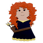 Paper Wizard - Petite Princess Collection - Die Cuts - Brave Princess