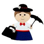 Paper Wizard - Petite Princess Collection - Die Cuts - Nanny Princess