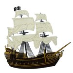 Paper Wizard - Pirates Collection - Die Cuts - Pirate Ship - Gold