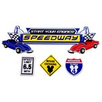 Paper Wizard - Die Cuts - Speedway Title and Minis