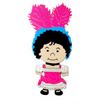 Paper Wizard - Petite Princess Collection - Die Cuts - Small World People - Can Can Girl