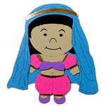 Paper Wizard - Petite Princess Collection - Die Cuts - Small World People - Morocco Belly Dancer