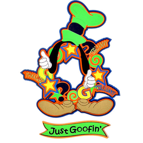 Paper Wizard - Theme Park Collection - Die Cuts - Goofy Wreath