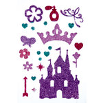 Queen and Company - Stick-Ems - Clear Stickers - Princess