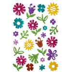 Queen and Company - Stick-Ems - Clear Stickers - Flowers