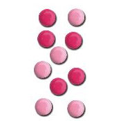 Queen and Company - Basic Brads - Round - 5mm - Pinks, CLEARANCE