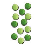 Queen and Company - Basic Brads - Round - 5mm - Greens