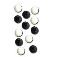 Queen and Company - Basic Brads - Round - 5mm - Blacks