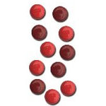 Queen and Company - Basic Brads - Round - 5mm - Reds, CLEARANCE