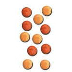 Queen and Company - Basic Brads - Round - 5mm - Oranges, CLEARANCE