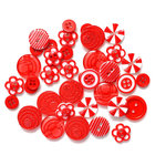Queen and Company - Button Bouquet - Red