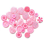 Queen and Company - Button Bouquet - Pink