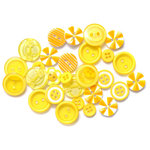 Queen and Company - Button Bouquet - Yellow