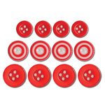 Queen and Company - Baby Buttons - Red