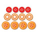 Queen and Company - Baby Buttons - Orange