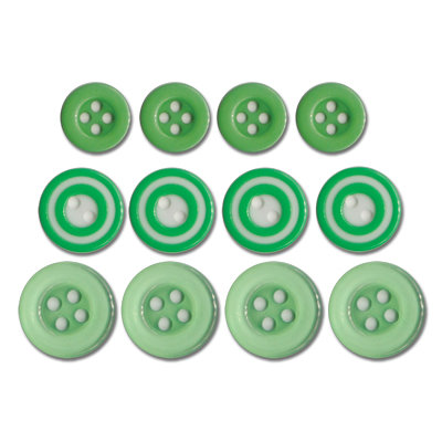 Queen and Company - Baby Buttons - Green
