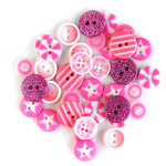 Queen and Company - Button Bouquet II - Pink