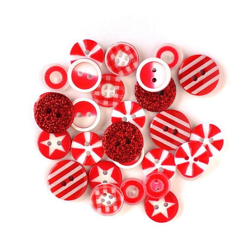 Queen and Company - Button Bouquet II - Red
