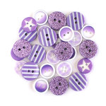 Queen and Company - Button Bouquet II - Purple